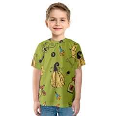 Funny Scary Spooky Halloween Party Design Kids  Sport Mesh Tee
