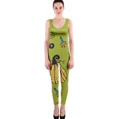 Funny Scary Spooky Halloween Party Design One Piece Catsuit