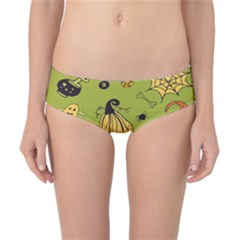 Funny Scary Spooky Halloween Party Design Classic Bikini Bottoms