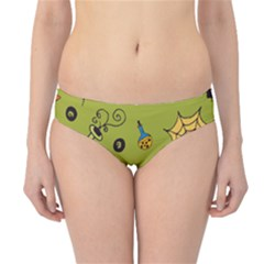 Funny Scary Spooky Halloween Party Design Hipster Bikini Bottoms