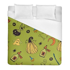 Funny Scary Spooky Halloween Party Design Duvet Cover (full/ Double Size)