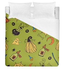 Funny Scary Spooky Halloween Party Design Duvet Cover (queen Size)