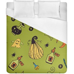 Funny Scary Spooky Halloween Party Design Duvet Cover (california King Size)