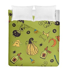 Funny Scary Spooky Halloween Party Design Duvet Cover Double Side (full/ Double Size)