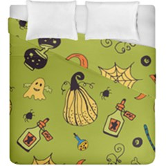 Funny Scary Spooky Halloween Party Design Duvet Cover Double Side (king Size)