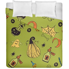 Funny Scary Spooky Halloween Party Design Duvet Cover Double Side (california King Size)