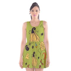 Funny Scary Spooky Halloween Party Design Scoop Neck Skater Dress