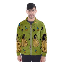 Funny Scary Spooky Halloween Party Design Windbreaker (men)