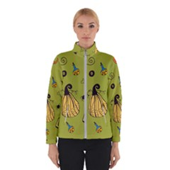 Funny Scary Spooky Halloween Party Design Winter Jacket