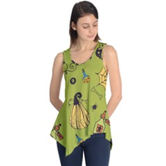 Funny Scary Spooky Halloween Party Design Sleeveless Tunic