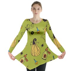 Funny Scary Spooky Halloween Party Design Long Sleeve Tunic