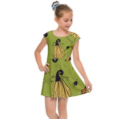Funny Scary Spooky Halloween Party Design Kids Cap Sleeve Dress