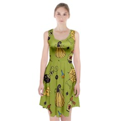 Funny Scary Spooky Halloween Party Design Racerback Midi Dress