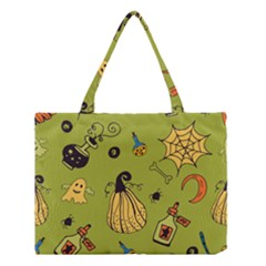 Funny Scary Spooky Halloween Party Design Medium Tote Bag
