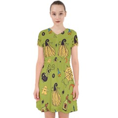 Funny Scary Spooky Halloween Party Design Adorable In Chiffon Dress