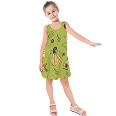 Funny Scary Spooky Halloween Party Design Kids  Sleeveless Dress