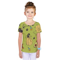 Funny Scary Spooky Halloween Party Design Kids  One Piece Tee
