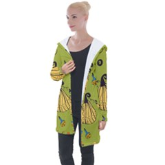 Funny Scary Spooky Halloween Party Design Longline Hooded Cardigan