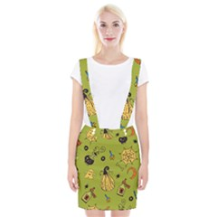 Funny Scary Spooky Halloween Party Design Braces Suspender Skirt