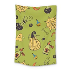 Funny Scary Spooky Halloween Party Design Small Tapestry