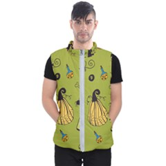 Funny Scary Spooky Halloween Party Design Men s Puffer Vest