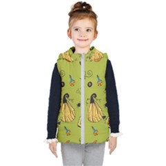 Funny Scary Spooky Halloween Party Design Kid s Hooded Puffer Vest
