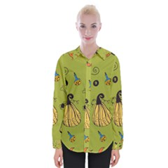 Funny Scary Spooky Halloween Party Design Womens Long Sleeve Shirt