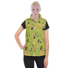 Funny Scary Spooky Halloween Party Design Women s Button Up Vest