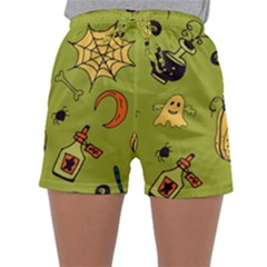 Funny Scary Spooky Halloween Party Design Sleepwear Shorts