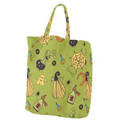 Funny Scary Spooky Halloween Party Design Giant Grocery Tote