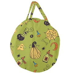 Funny Scary Spooky Halloween Party Design Giant Round Zipper Tote