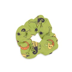 Funny Scary Spooky Halloween Party Design Velvet Scrunchie