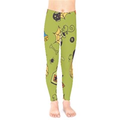 Funny Scary Spooky Halloween Party Design Kids  Legging