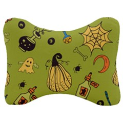 Funny Scary Spooky Halloween Party Design Velour Seat Head Rest Cushion