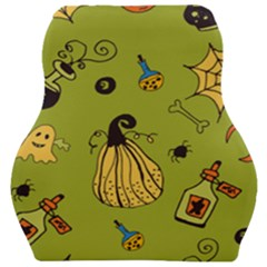 Funny Scary Spooky Halloween Party Design Car Seat Velour Cushion