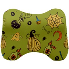 Funny Scary Spooky Halloween Party Design Head Support Cushion