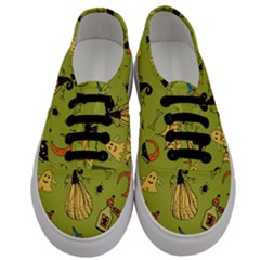Funny Scary Spooky Halloween Party Design Men s Classic Low Top Sneakers
