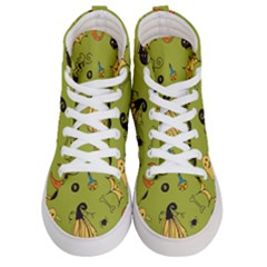 Funny Scary Spooky Halloween Party Design Women s Hi Top Skate Sneakers