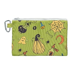Funny Scary Spooky Halloween Party Design Canvas Cosmetic Bag (large)