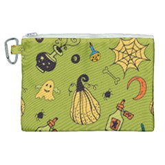 Funny Scary Spooky Halloween Party Design Canvas Cosmetic Bag (xl)
