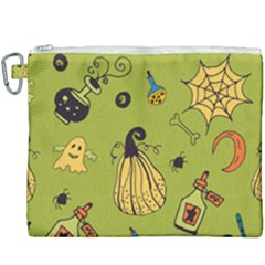 Funny Scary Spooky Halloween Party Design Canvas Cosmetic Bag (xxxl)