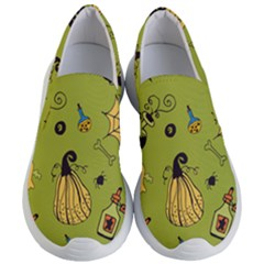 Funny Scary Spooky Halloween Party Design Women s Lightweight Slip Ons
