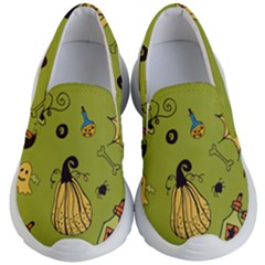 Funny Scary Spooky Halloween Party Design Kid s Lightweight Slip Ons