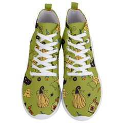 Funny Scary Spooky Halloween Party Design Men s Lightweight High Top Sneakers