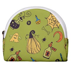 Funny Scary Spooky Halloween Party Design Horseshoe Style Canvas Pouch