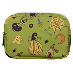 Funny Scary Spooky Halloween Party Design Make Up Pouch (small)