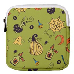 Funny Scary Spooky Halloween Party Design Mini Square Pouch