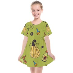 Funny Scary Spooky Halloween Party Design Kids  Smock Dress