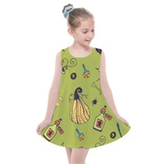 Funny Scary Spooky Halloween Party Design Kids  Summer Dress