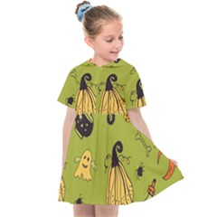 Funny Scary Spooky Halloween Party Design Kids  Sailor Dress